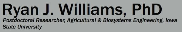 Ryan J. Williams, PhD –Microbial Ecologist